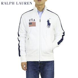 """ポロ ラルフローレン スウェット アメリカ国旗 ビッグポニージャージ トラックジャケット Polo Ralph Lauren Men's """"Big Pony"""" USA-FLAG Fleece Track Jacket"""