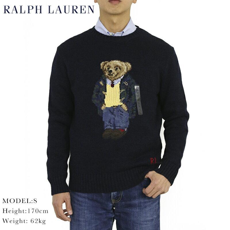 """ポロ ラルフローレン ポロベアー クルーネックセーター ダッフルコートベア POLO Ralph Lauren Men's """"POLO BEAR"""" Cotton Linen Crew Sweater US"""