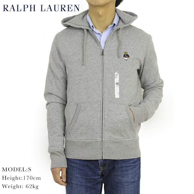 ポロ ラルフローレン ポロベア刺繍 ジップアップ スウェット パーカーPOLO Ralph Lauren Men's POLO BEAR Zip Parka US