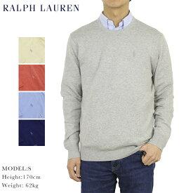 ポロ ラルフローレン コットン/カシミア クルーネックセーターPOLO Ralph Lauren Men's Cotton/Cashmere Crew Sweater US