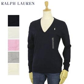 ポロ ラルフローレン レディース Vネック ピーマコットン セーター POLO Ralph Lauren Women's Pima Cotton V-Neck Sweater US