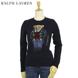 """ポロ ラルフローレン レディース ポロベアー クルーネック コットン/リネン プルオーバー セーター POLO Ralph Lauren Women's """"POLO BEAR"""" Cotton Sweater"""