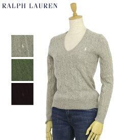 ポロ ラルフローレン レディース メリノウール Vネック セーター Ralph Lauren Women's Merino Cable Sweater US