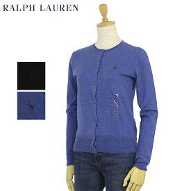 ポロ ラルフローレン レディース ピーマコットン 丸首 カーディガン Ralph Lauren Women's Pima Cotton Cardigan US