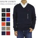 """Ralph Lauren Men's """"PIMA COTTON"""" V-neck Sweater US ポロ ラルフローレン Vネック メンズ コットン セーター 売れ筋…"""