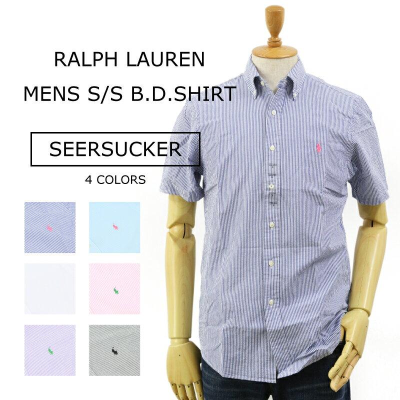 """(5色)Ralph Lauren """"SEERSUCKER"""" STANDARD FIT S/S B.D. Shirts US ポロ ラルフローレン シアサッカー ストライプ ボタンダウン 半袖シャツ スタンダードフィット 売れ筋 (UPS)"""