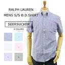 """(5色)Ralph Lauren """"SEERSUCKER"""" STANDARD FIT S/S B.D. Shirts US ポロ ラルフローレン シアサッカー ストライプ ボ…"""