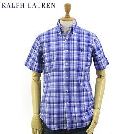 """Ralph Lauren S/S """"STANDARD"""" Poplin Madras S/S B.D.Shirts US ポロ ラルフローレン ブロード マドラスチェック ボタンダウン 半袖シャツ"""