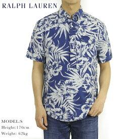 """Ralph Lauren """"STANDARD FIT"""" Indigo Linen S/S PO Aloha B.D. Shirts US ポロ ラルフローレン インディゴ染めリネン プルオーバー ボタンダウン 半袖 アロハシャツ"""