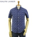 """Ralph Lauren """"SLIM FIT"""" Yacht Print S/S B.D. Shirts US ポロ ラルフローレン キャンバス ボタンダウン 半袖シャツ …"""