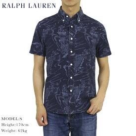 """ポロ ラルフローレン スリムフィット 半袖シャツ ボタンダウン インディゴ シャンブレー Polo Ralph Lauren """"SLIM FIT"""" Aloha Shirts US"""