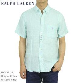 ポロ ラルフローレン 麻 リネン ボタンダウン 半袖シャツ ワンポイント クラシックフィット POLO Ralph Lauren CLASSIC FIT LINEN S/S B.D.Shirts US