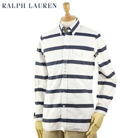 """Ralph Lauren Men's """"CUSTOM FIT"""" Marine Border B.D.Shirts US ポロ ラルフローレン カスタムフィット ボタンダウン 長袖シャツ"""