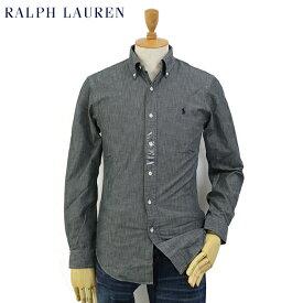 """Ralph Lauren Men's """"SLIM FIT"""" Chambray B.D.Shirts US ポロ ラルフローレン スリム ボタンダウン シャンブレー 長袖シャツ"""