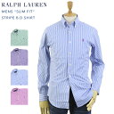 "Ralph Lauren Men's ""SLIM FIT"" Poplin Stripe B.D.Shirts US ポロ ラルフローレン スリム ボタンダウン ..."