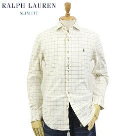 """Ralph Lauren Men's """"SLIM FIT"""" Spread Collar Shirts Windowpane US ポロ ラルフローレン スリム ワイドカラー 長袖シャツ ウィンドーペーン フランネル"""