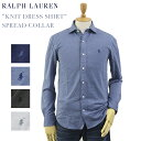 "Ralph Lauren Men's ""KNIT DRESS SHIRT"" Spread Collar Shirts US ポロ ラルフローレン スリムフィット..."