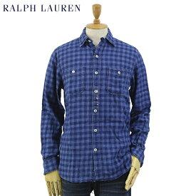 """Ralph Lauren Men's Vintage """"INDIGO"""" Flannel Work Shirts US ポロ ラルフローレン ビンテージ インディゴ フランネルチェック ワークシャツ 長袖シャツ"""