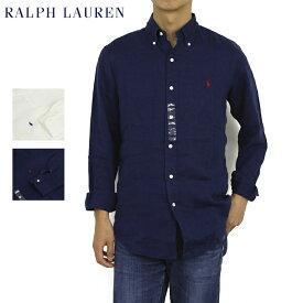 """ポロ ラルフローレン 長袖 リネン 麻 ボタンダウンシャツ POLO Ralph Lauren """"STANDARD""""Linen l/s B.D.Shirts US"""