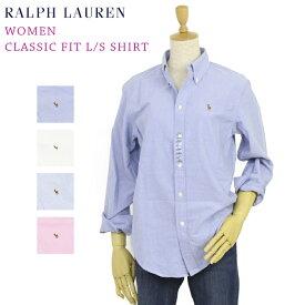 """ラルフローレン USレディース 長袖シャツ ワンポイント ブラウス オックスフォード ボタンダウン Women Ralph Lauren """"CLASSIC FIT"""" Oxford L/S Shirt"""