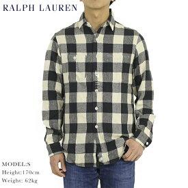 """ポロ ラルフローレン フランネルシャツ 長袖シャツ チェック POLO Ralph Lauren Men's """"STANDARD"""" Vintage Flannel B.D.Shirts US"""