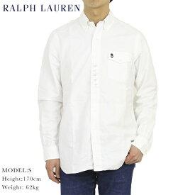 """ポロ ラルフローレン 長袖 クラシックフィット スカル刺繍 ビンテージ ボタンダウンシャツ POLO Ralph Lauren Men's """"CLASSIC FIT"""" l/s Skull Oxford B.D.Shirts US"""