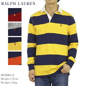 """ポロ ラルフローレン ボーダー 長袖 ラガーシャツ POLO Ralph Lauren Men's """"ICONIC RUGBY SHIRT"""""""