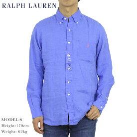 """ポロ ラルフローレン ボタンダウン 長袖シャツ クラシックフィット リネン 麻 POLO Ralph Lauren Men's """"CLASSIC FIT"""" Linen B.D.Shirts US (UPS)"""