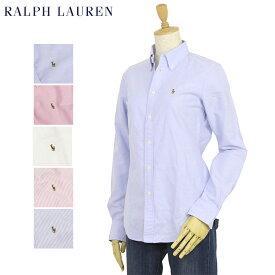 """ラルフローレン USレディース 長袖シャツ ワンポイント ブラウス オックスフォード ボタンダウン Women Ralph Lauren """"SLIM FIT"""" Oxford L/S Shirt"""