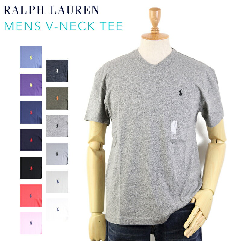 "POLO Ralph Lauren Men's ""CLASSIC FIT"" V-Neck T-shirts USポロ ラルフローレン メンズ 無地 Vネック Tシャツ ワンポイント"