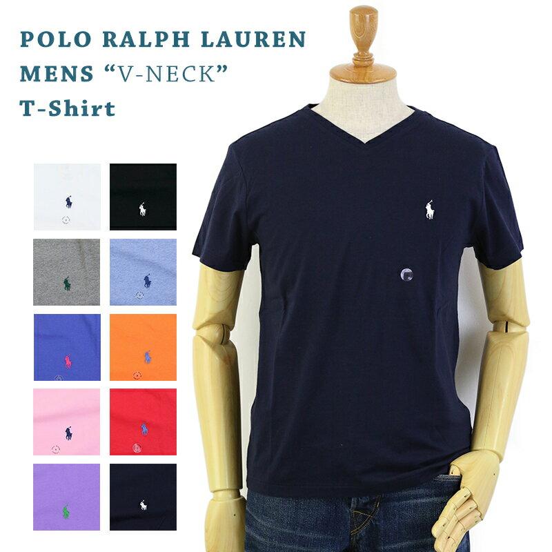 Ralph Lauren Men's V-Neck T-shirts ラルフローレン メンズ 無地 Vネック Tシャツ ワンポイント