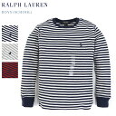 (SCHOOL) Ralph Lauren Boys l/s Waffle Thermal Border Tee USラルフローレン ボーイズ 長袖 ボーダーT...