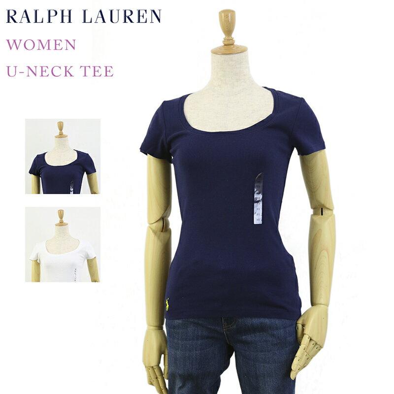 ポロ ラルフローレン レディース Uネック Tシャツ POLO Ralph Lauren Women's U-Neck Tee Shirt