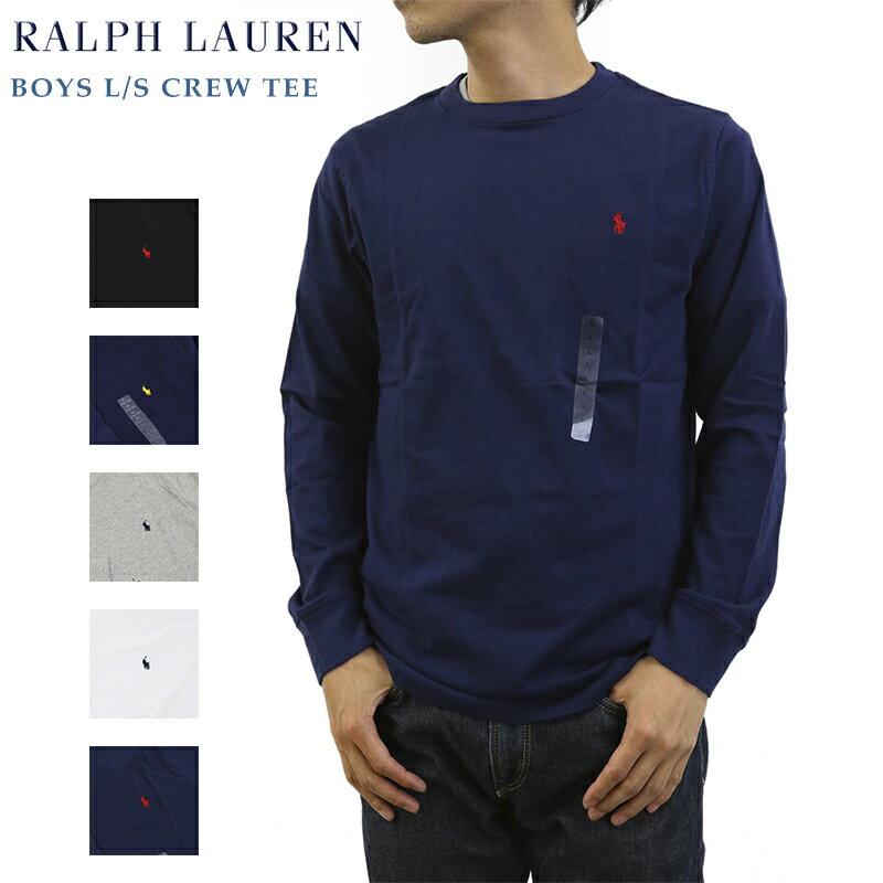 (SCHOOL) Ralph Lauren Boys l/s Crew Tee USラルフローレン ボーイズ 長袖 無地 Tシャツ
