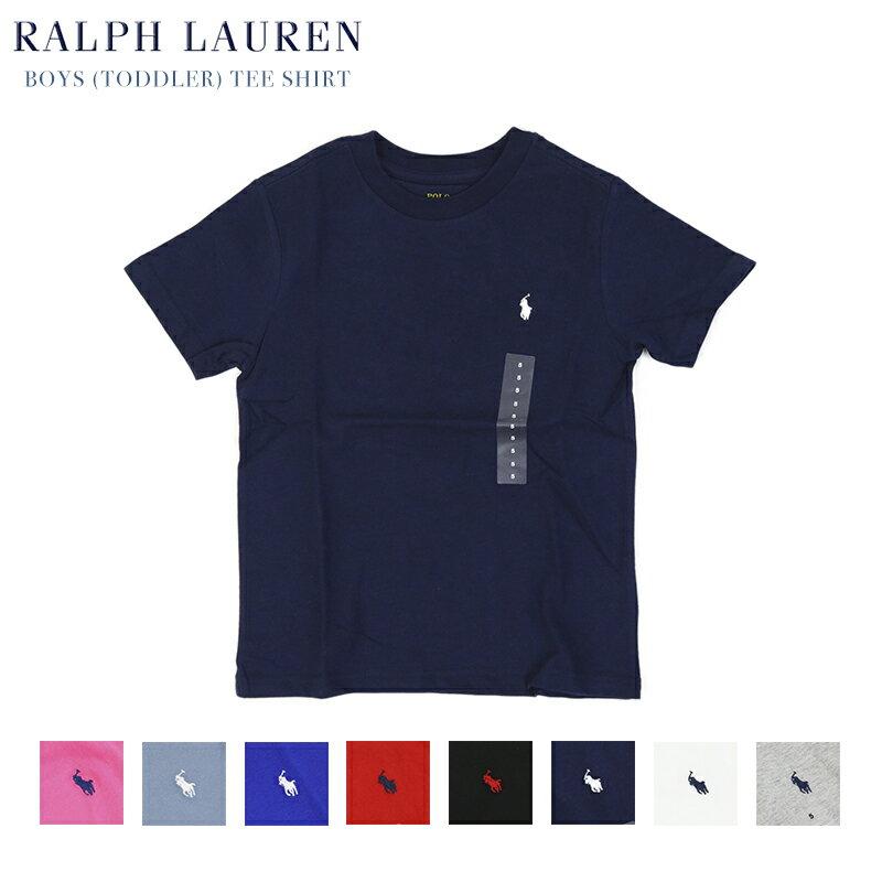 (TODDLER) POLO by Ralph Lauren Boys(2-7) Crew Tee Shirt ラルフローレン ボーイズ 半袖 Tシャツ 無地 ワンポイント