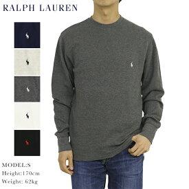 ポロ ラルフローレン メンズ 無地 ワッフルサーマル 長袖Tシャツ ワンポイント POLO Ralph Lauren Men's WAffle Crew l/s T-shirts US