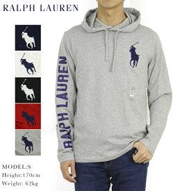 ポロ ラルフローレン メンズ ビッグポニー刺繍 フード付き 長袖Tシャツ アメリカ国旗プリント POLO Ralph Lauren Men's Hooded l/s BIG PONY T-shirts US