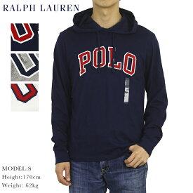 ポロ ラルフローレン メンズ ロゴ刺繍 フード付き 長袖Tシャツ 無地 POLO Ralph Lauren Men's Hooded l/s T-shirts US