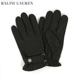 ポロ ラルフローレン シンサレート タッチパネル対応のレザーグローブ 手袋 POLO Ralph Lauren The Touch Leather Glove (RL BLACK)