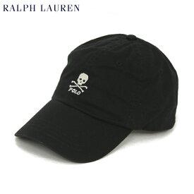ポロ ラルフローレン スカル刺繍 キャップ ワンポイント ハット (BLACK) Polo by Ralph Lauren Skull Baseball Cap US
