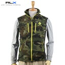 "Ralph Lauren ""RLX"" Camouflage Fleece Vest USラルフローレンRLX 迷彩柄フリースベスト"