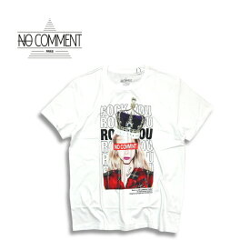 NO COMMENT PARIS ノーコメントパリ JAPAN LIMITED crown girl T shirt WHITE 半袖 Tシャツ