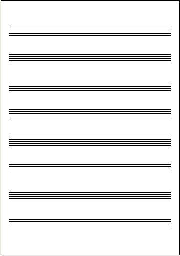 五線紙 NO.42 8段(10枚)