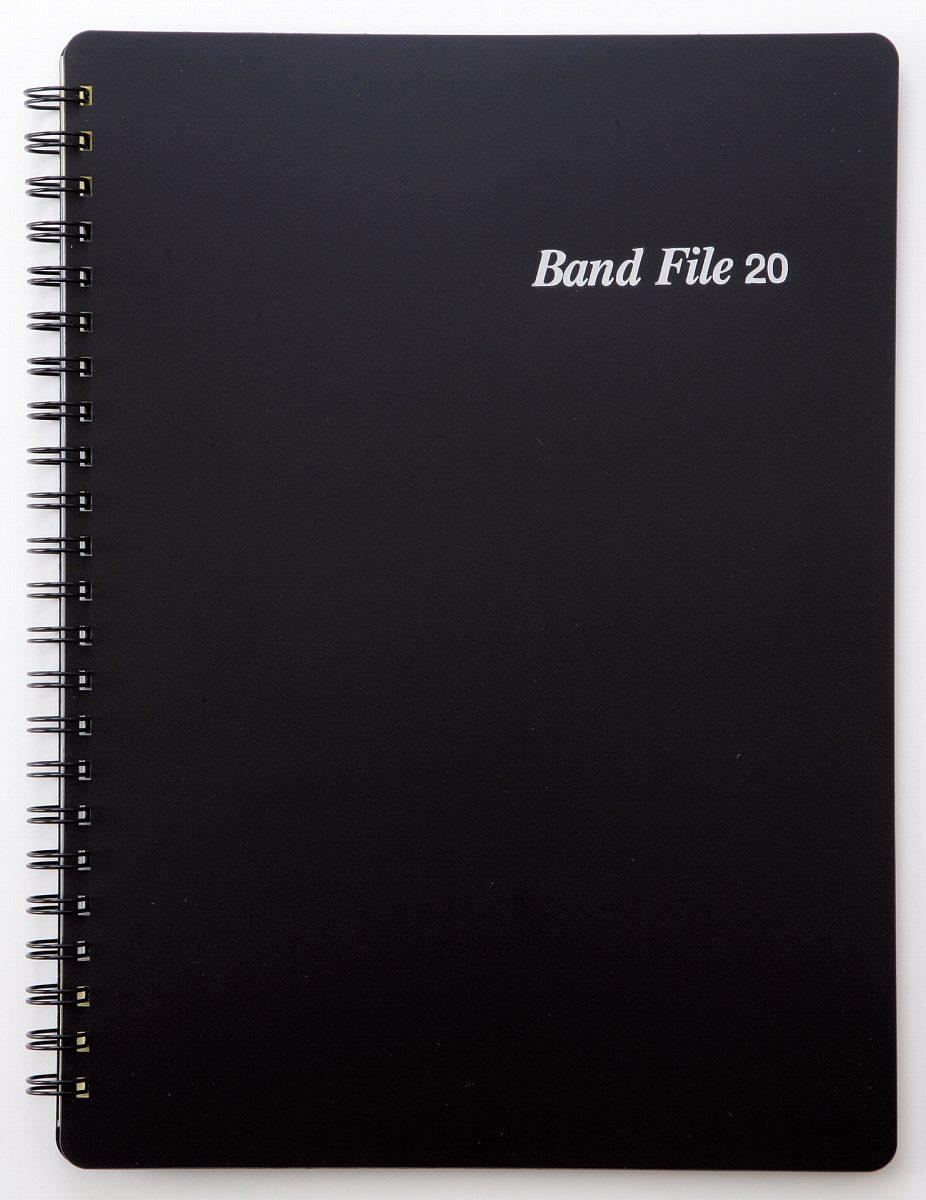 BF1015−01バンドファイル 黒【メール便不可商品】