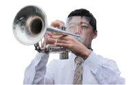 吹奏楽用フェイスシールド(タイプ−B)【対象楽器トランペットホルン】(本体セットフレーム1本+フィルム2枚入り)【メール便不可商品】