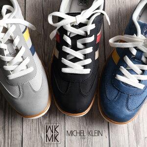 【送料無料】MICHEL KLEIN ミッシェルクラン スニーカー レディース おしゃれ 軽量 ヒモ ひも 紐 履きやすい 歩きやすい カジュアルシューズ okim65
