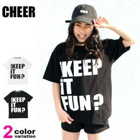 【cheer トップス】 チアー CHEER Tシャツ 半袖 トップス レディース cx833110 (cheer tシャツ メッセージプリント BIG TEE) 【あす楽対応】 【メール便対応】