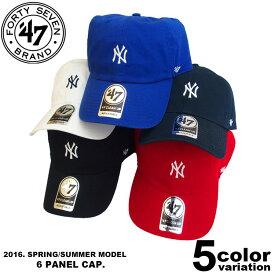 47Brand キャップ Yankees Centralfield '47 CLEAN UP ヤンキース ロゴ ベースボールキャップ ミニロゴ (5色) [B-HIRNO17GWH] 【47brand フォーティーセブンブランド キャップ 帽子 ヤンキース メンズ レディース】【あす楽対応】