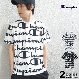 チャンピオン Champion Tシャツ 半袖 総柄 ビッグロゴ C VAPOR Tシャツ メンズ レディース ドライ スポーティ [C3-PS322]【あす楽対応】