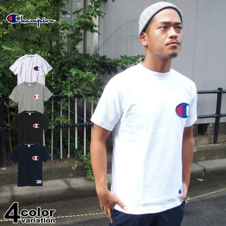 Champion Champion short sleeve T shirt / big logo embroidered / tip of the day (4 colors) [C3F362]